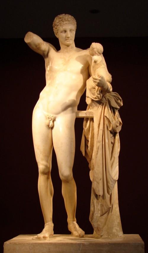 Hermes_di_Prassitele,_at_Olimpia,_front